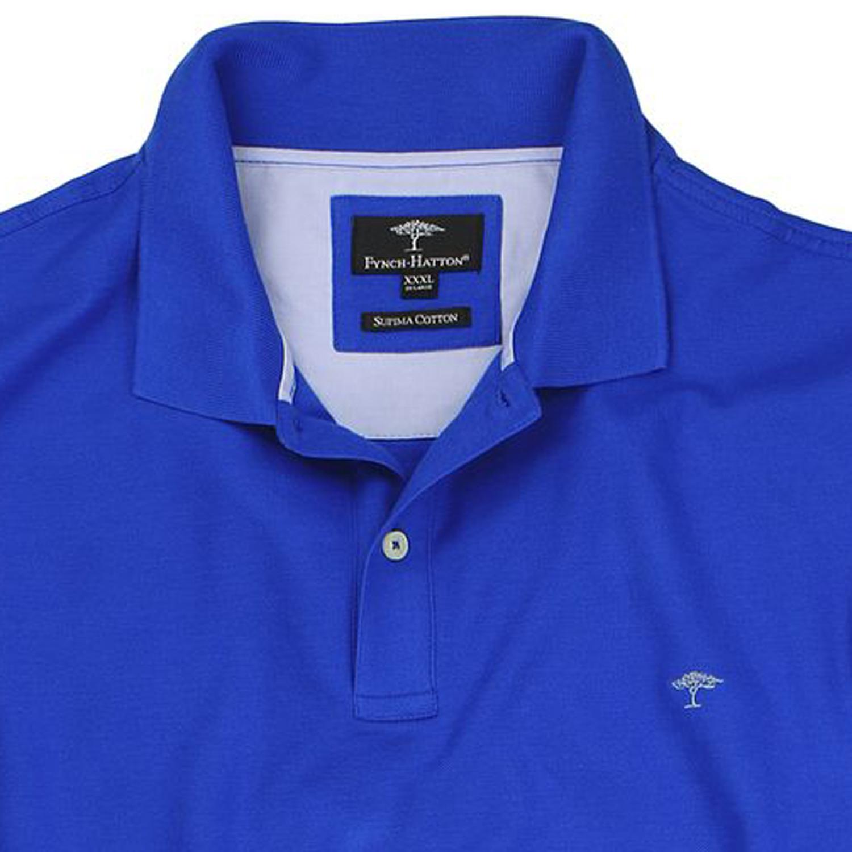 Image de détail de Polo bleu de Fynch-Hatton grandes tailles jusqu'au 5XL