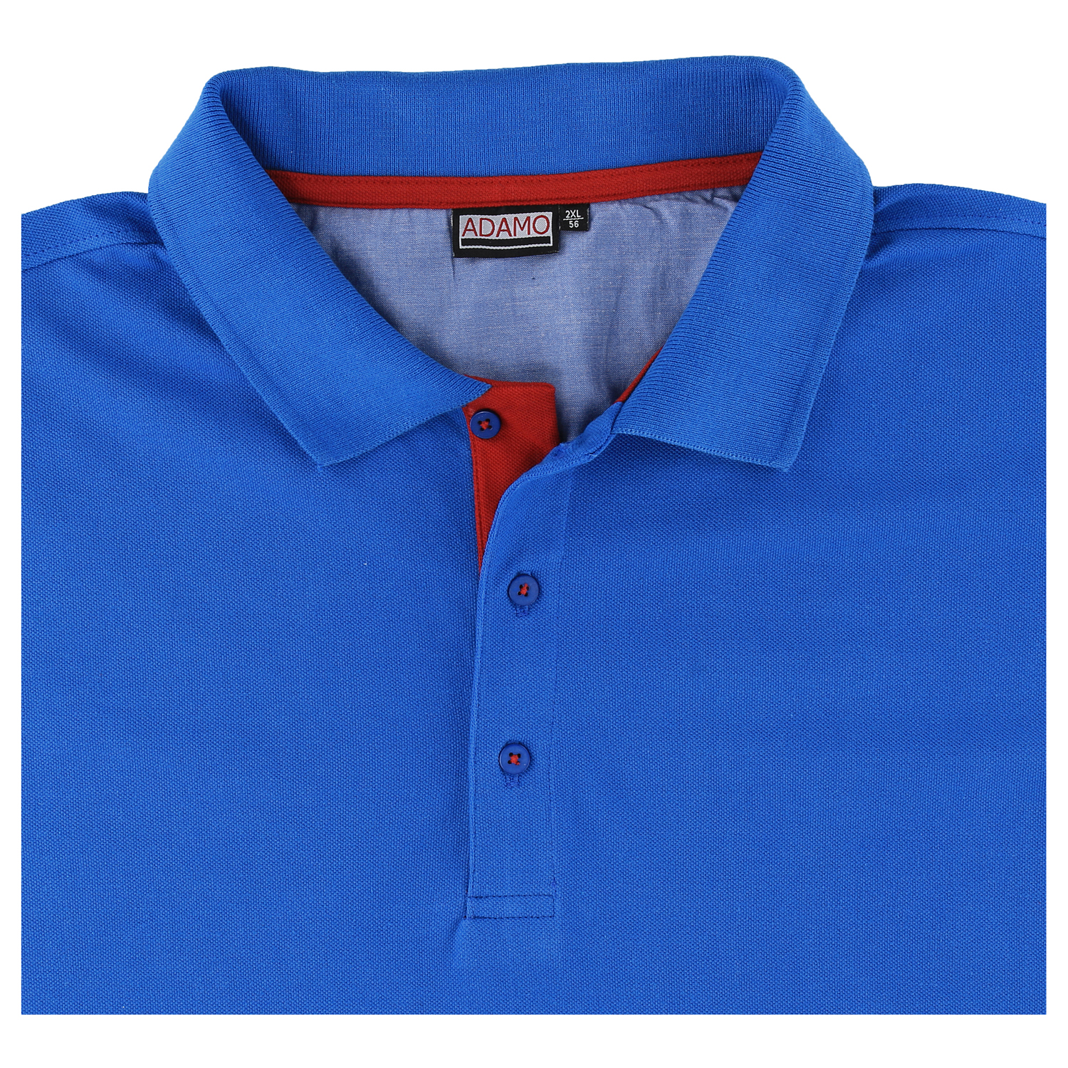 info for 13de8 b113b Short sleeve polo shirt in royal blue by Adamo up to oversize ...