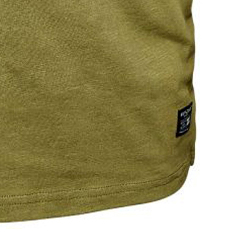 Detailbild zu Übergrößen Kurzarmshirt mit Fronprint und Rundhals in olivgrün von North 56°4 Größe 3XL bis 8XL
