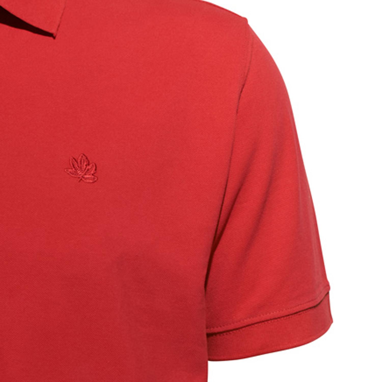Detailbild zu Herren Piquee Poloshirt kurzarm in rot von Ahorn Sportswear bis Übergröße 10XL