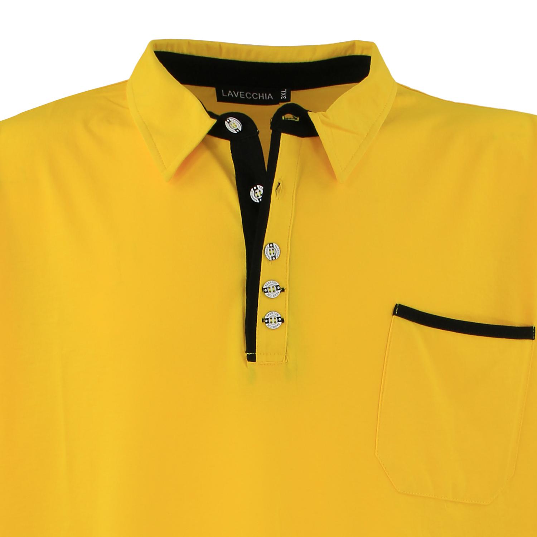 Detailbild zu Poloshirt von Lavecchia für Herren gelb in Übergrößen 3XL - 8XL