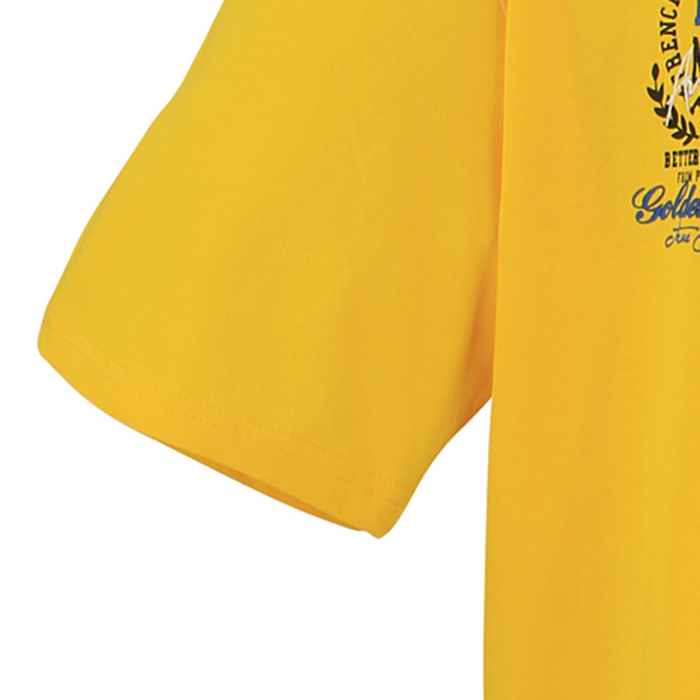 Detailbild zu Gelbes Poloshirt für Herren in großen Größen bis 8XL von Lavecchia mit Brustaufdruck