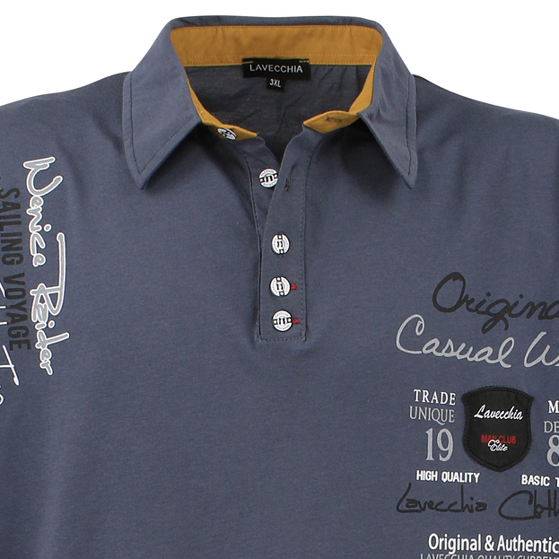 pretty nice 90db9 8b423 Große Größen Poloshirt von Lavecchia bis 8XL anthrazit für ...