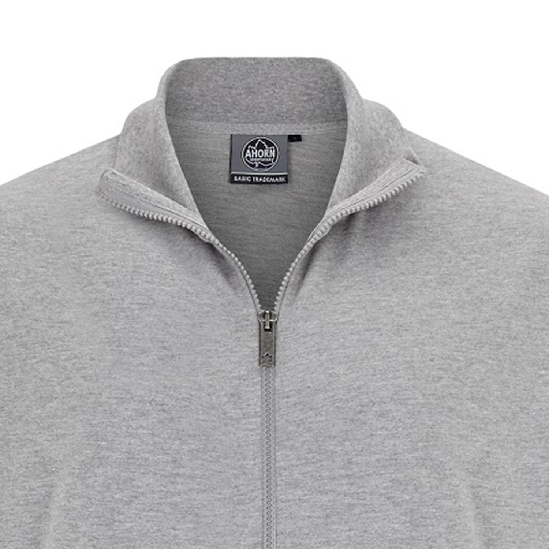 Detailbild zu Herren Sweat Jacke graumeliert von Ahorn Sportswear in großen Größen XXL bis 10XL
