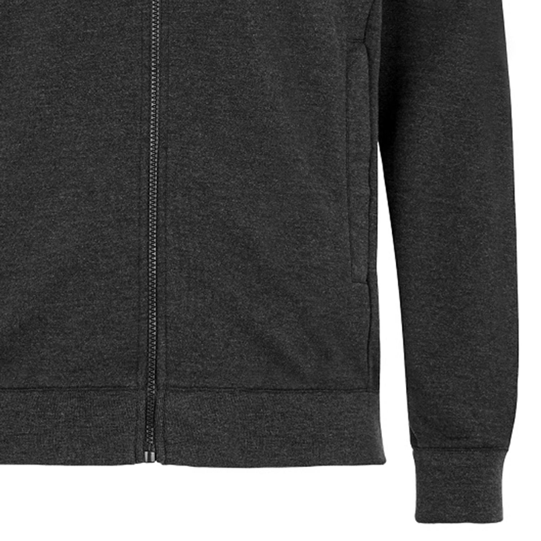 Detailbild zu Herren Sweatjacke mit Reißverschluss und Stehkragen von Ahorn Sportswear in anthrazit meliert bis Übergröße 10XL