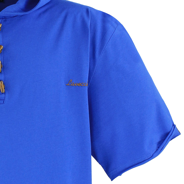 herren t shirt mit kapuze in royalblau von lavecchia bis. Black Bedroom Furniture Sets. Home Design Ideas