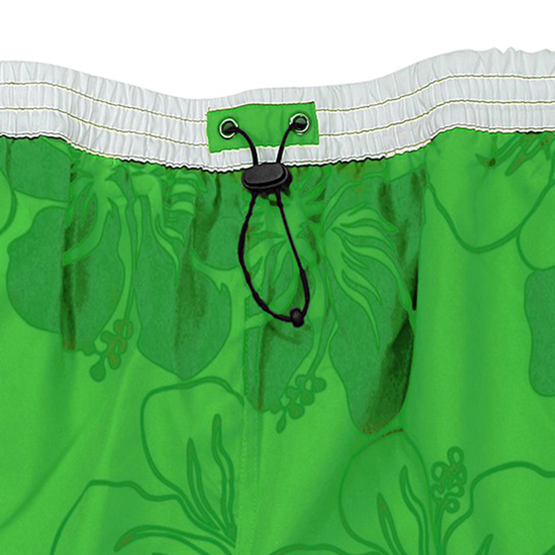 Detailbild zu Badebermuda von eleMar in grün-weiß für Herren Übergrößen 3XL bis 10XL gemustert
