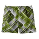 Bathing trunks by eleMar for men green checked in oversizes 7XL, 8XL, 9XL