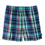 Bathing trunks by eleMar for men blue checked in oversizes up to 6XL
