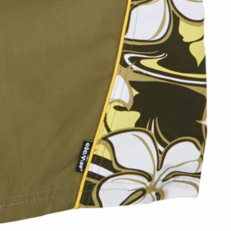Detailbild zu Badebermuda von eleMar in khaki für Herren Übergrößen 7XL bis 10XL mit Blumenprint