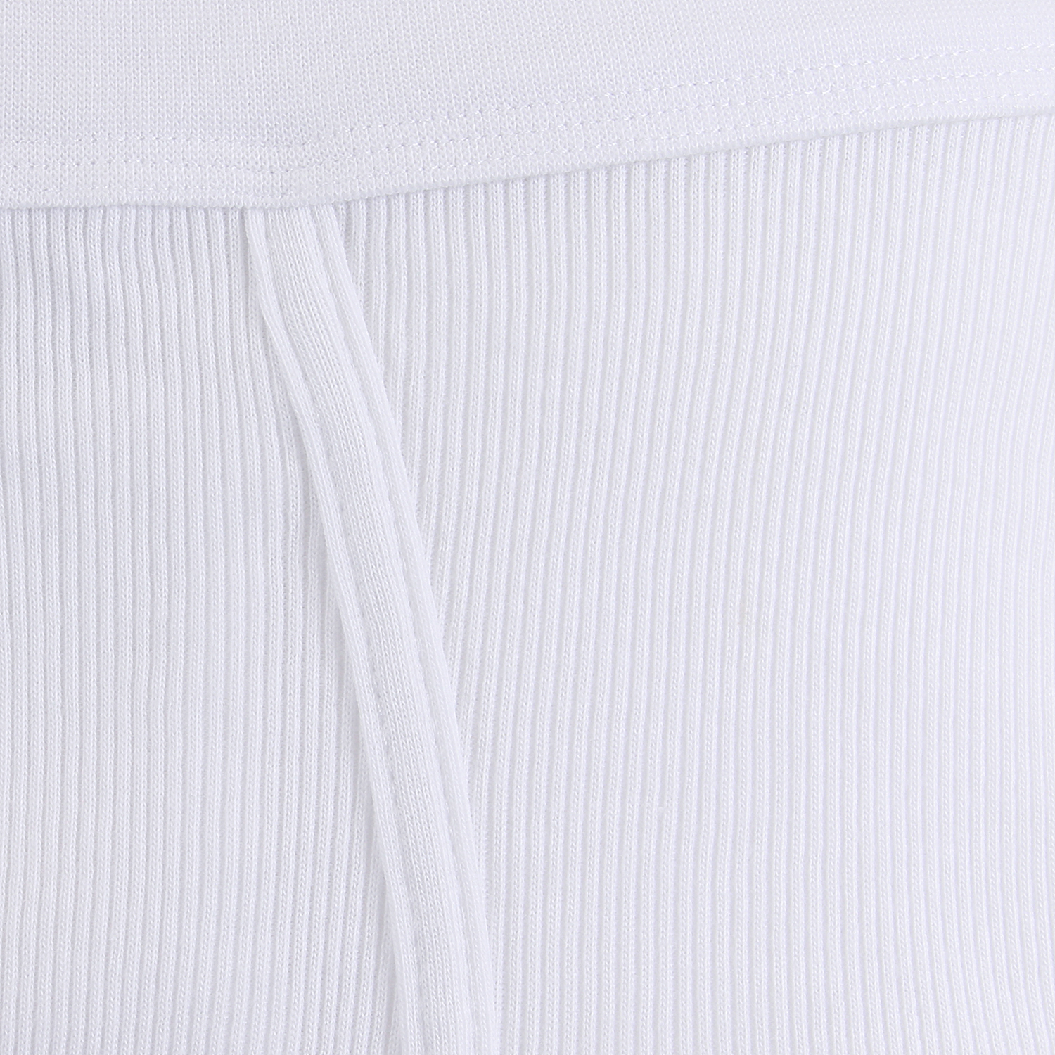Detail Image to White PRESTIGE Slip with fly in double rib by ADAMO until oversize 20