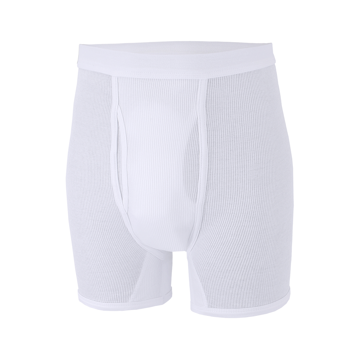Detail Image to White short trousers PRESTIGE (double rib) from ADAMO in oversizes up to 20