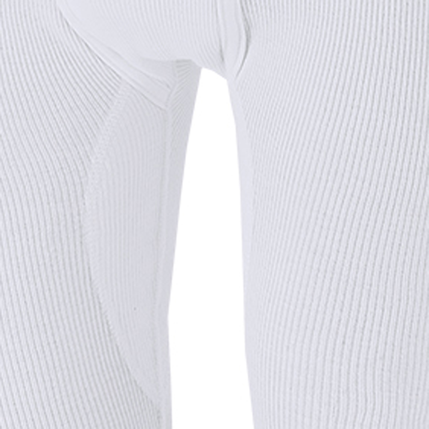 Detail Image to White double rib PRESTIGE ¾ trousers by ADAMO up to kingsize 20