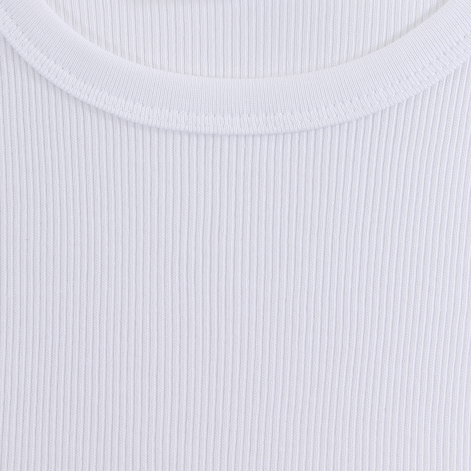 Detail Image to White PRESTIGE undershirt by ADAMO in double rib up to extra large size 20