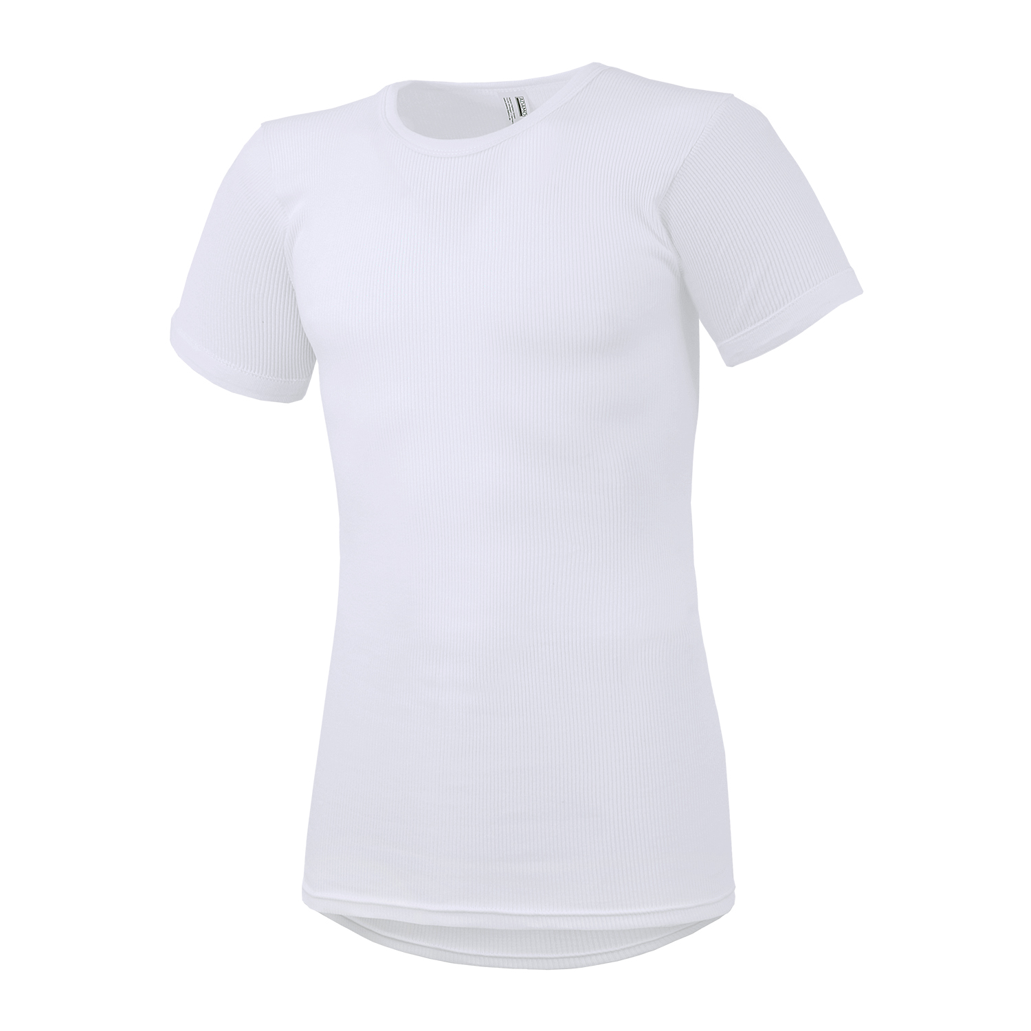 Detail Image to White double rib t-shirt PRESTIGE by ADAMO up to oversize 20