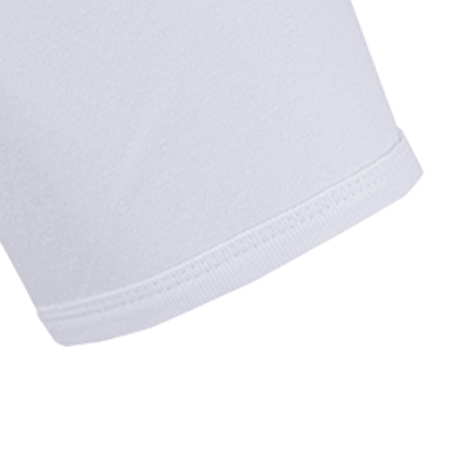 Detail Image to White ROYAL t-shirt by ADAMO in fine rib up to plus size 20