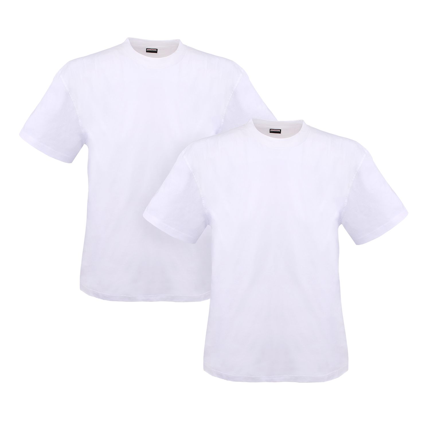 Detail Image to Double pack white MARLON t-shirt by ADAMO up to kingsize 12XL