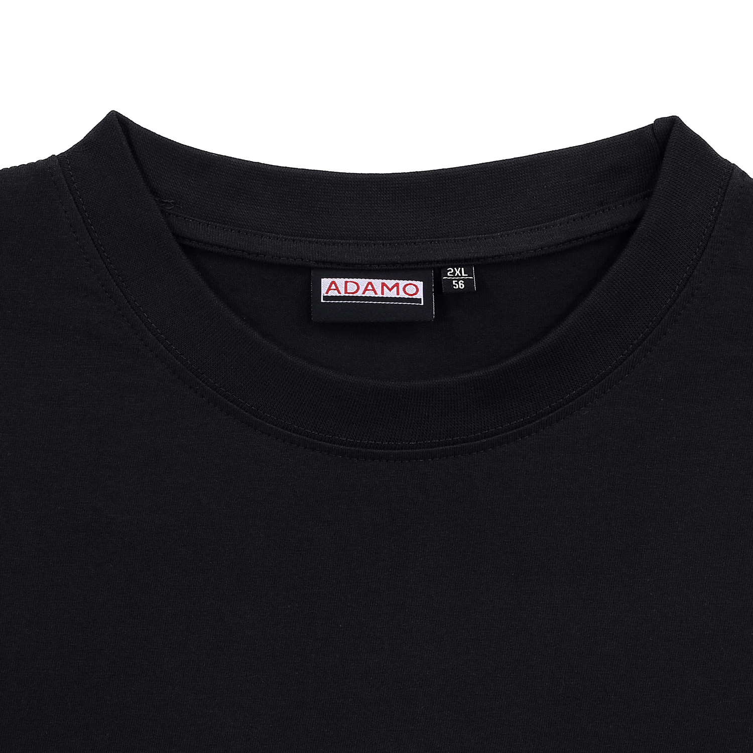 Detail Image to Black double pack MARLON t-shirt by ADAMO up to kingsize 12XL