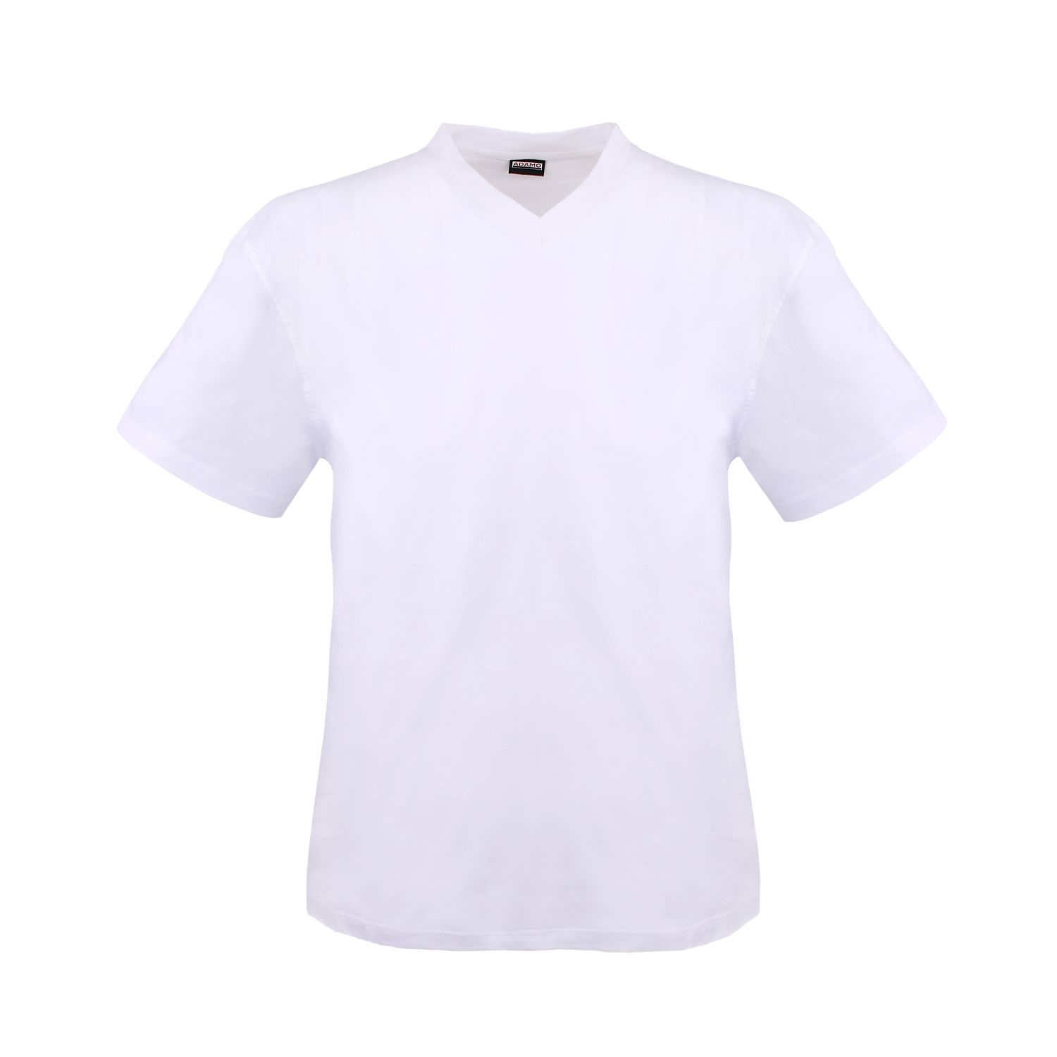 Detail Image to White double pack MAVERICK v-neck by ADAMO men fashion up to kingsize 10XL