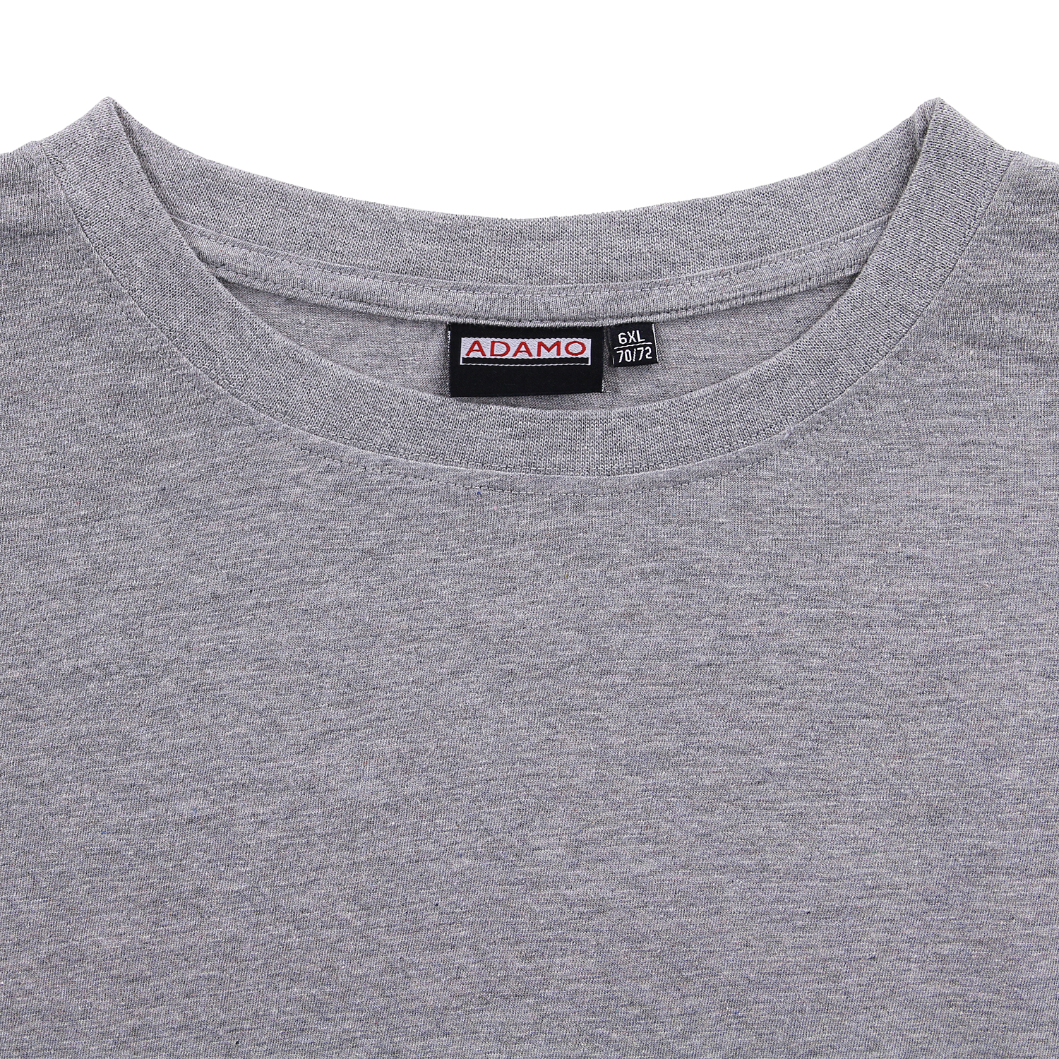 Detail Image to Double pack grey mottled MARLON t-shirt by ADAMO up to kingsize 12XL