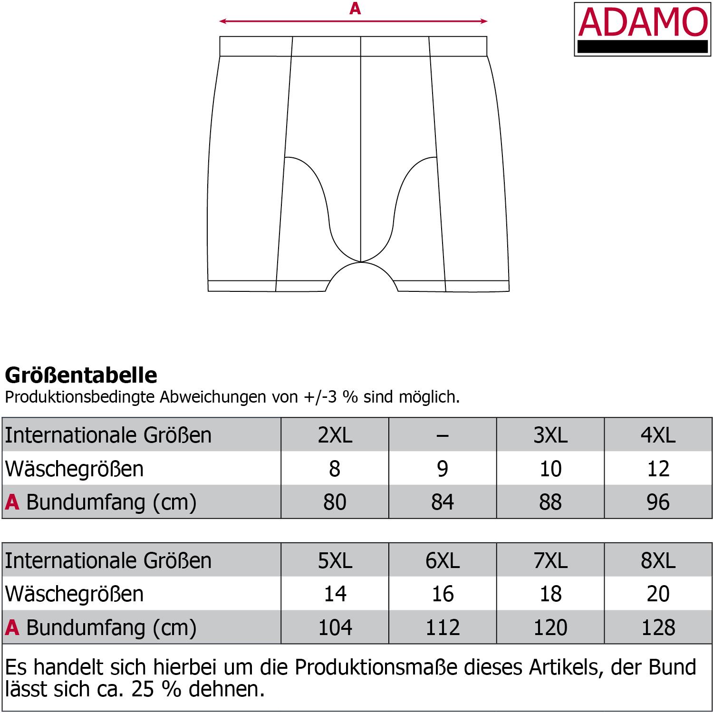 Detailbild zu Schwarze Maxipant Serie JACK von ADAMO im Doppelpack bis Übergröße 20