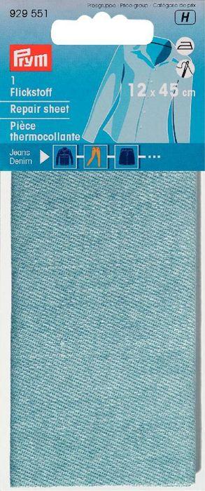 Flickstoff 12x45 cm hellblau