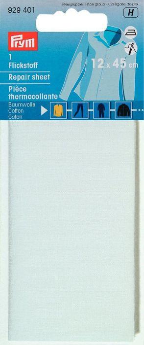 Flickstoff 12x45cm (weiß)