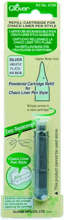 Nachfüllcartridge für Nähkreidestift (silber)