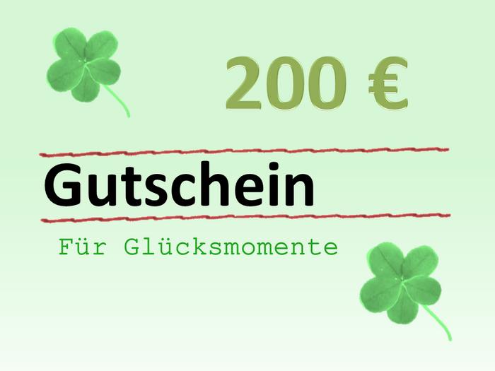Geschenk-Gutschein über 200 Euro