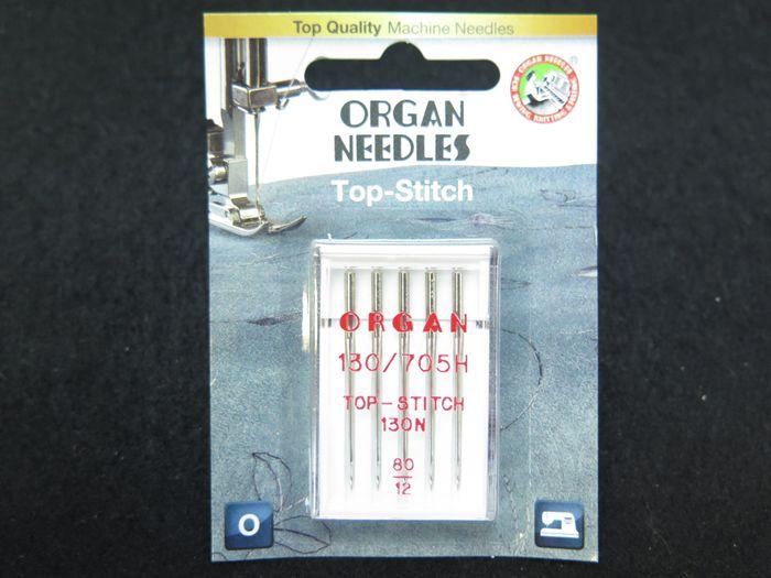 "Organ Nähmaschinennadeln ""Top Stitch"" 80/12"