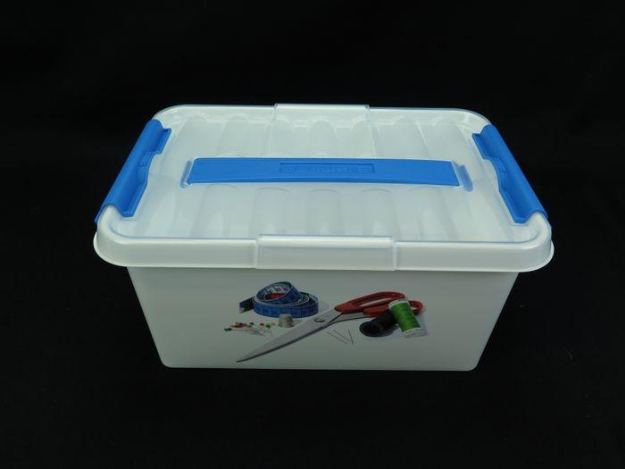 Nähbox klein (weiß / transparent)
