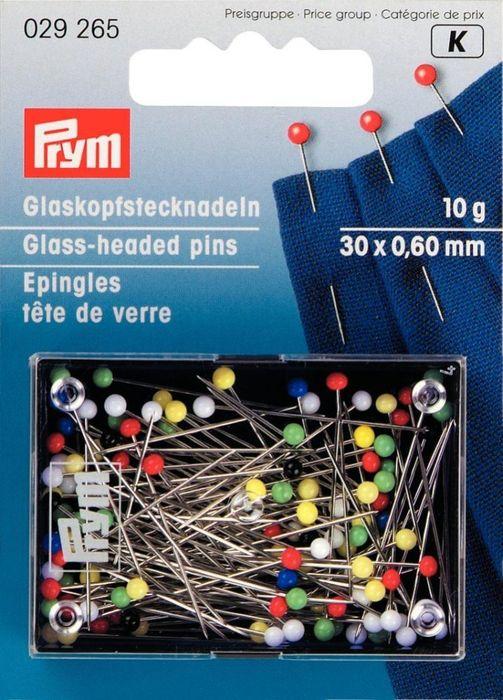 Glaskopfstecknadeln 30x0,6mm 10g