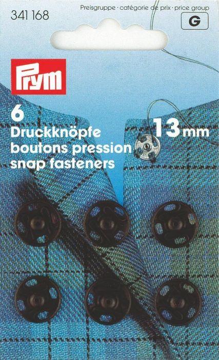 Annäh-Druckknöpfe 13mm, schwarz
