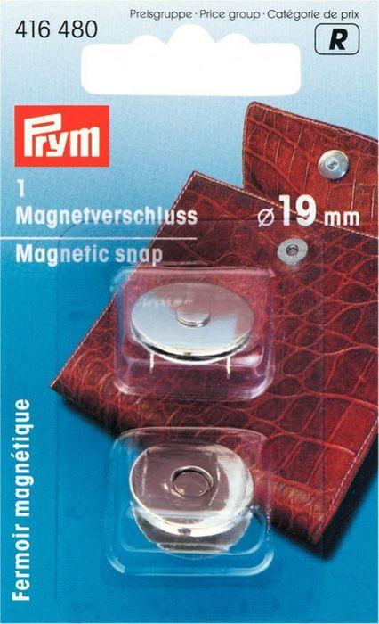 Magnetverschluß 19 mm (silberfarben)