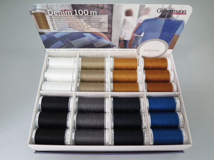 Gütermann Denim No.50 / 100 m (dunkegrau)