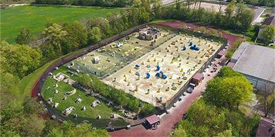 Eines der 4 Außenfelder von Paintball Günzburg