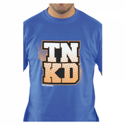 TANKED Orange Dot T-Shirt, blau 003