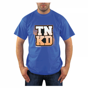 TANKED Orange Dot T-Shirt, blau 001