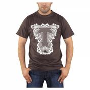 TANKED Braun T-Shirt, braun 001