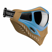 VForce Grill Paintballmaske mit Thermalglas, Blue on Taupe, SPECIAL EDITION 001