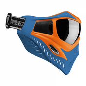 VForce Grill Paintballmaske mit Thermalglas, Orange on Blue, SPECIAL EDITION 001