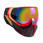 HK Army KLR Paintball Maske Element in rot-gold-schwarz! Absolut Stylish, direkt ab Werk mit einem verspiegeltem Thermalglas!