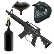 Tippmann Bravo One Elite Paintball Spar Set mit HP-System, Loader, Maske 001