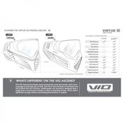 Virtue Ascend VIO Paintball Maske, grau charcoal Bild 2