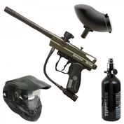 Spyder Victor oliv Paintball Sparpaket mit Thermal Paintballmaske, Loader und Druckluftsystem 001