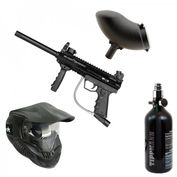 Valken SW-1 Blackhawk Paintball Sparpaket mit Thermal Maske, Schüttelhopper, HP-System 001