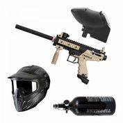 Tippmann Cronus Basic Tan-Black, 0,8l HP-System, JT Maske, JT Revolution Loader, Paintball Sparset 001