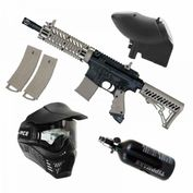 Tippmann TMC MagFed HP 0,8l Set, Thermal Paintball Maske, 2 Extra-Magazine, JT Revolution 001