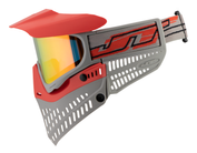JT USA Spectra Proflex Thermal Paintballmaske, ltd. Edition, rot-grau Bild 4