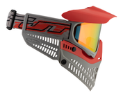 JT USA Spectra Proflex Thermal Paintballmaske, ltd. Edition, rot-grau Bild 5